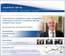 IMAGE: Annual Review webpage