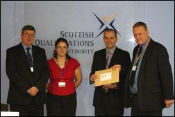 PHOTO: SQA receiving Dangerous Goods Driver Training Scheme contract