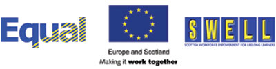 LOGO: Europe and Scotland,SWELL,EQUAL.