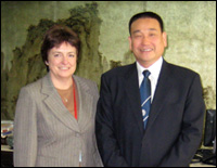 PHOTO: Janet with Professor Dai Jiagan