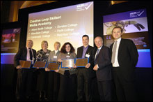 PHOTO: Creative Loop being awarded Skillset Media Academy status at launch event in London