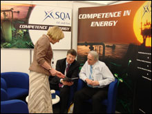 IMAGE: SQA stand at the Offshore Europe