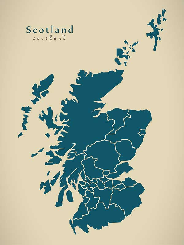 Image: Scotland map