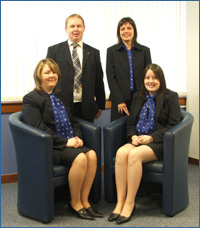 PHOTO: SQA Corporate Events Team, from back left: John Tweedie, Rosemary Mooney, Lianne Wilson, and Louise Aldridge.