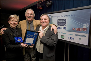 PHOTO from left: Catherine Taylor, Jim Leishman, and Graham Hyslop.