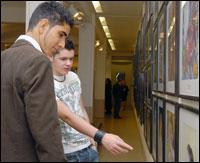 PHOTO: Art Exhibition visitors