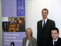 PHOTO: SQA staff at an event at Reid Kerr College, Paisley
