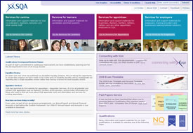 SQA's new and improved homepage