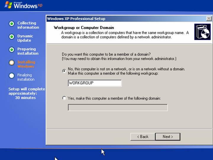 network domain vs workgroup