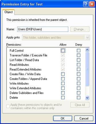 NTFS Special Permissions