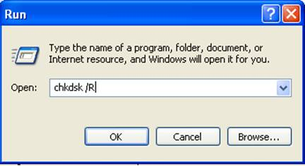 how to use chkdsk to repair bad sectors