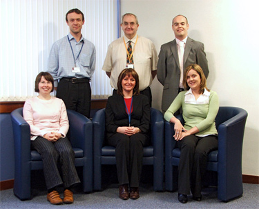 Customer Contact Team photo: Anna, Ian, Julie, Forbes, Brian and Simone.