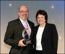 PHOTO: 2007 Pride O'Worth Winner Bruce Milne with SQA Chief Executive Dr Janet Brown
