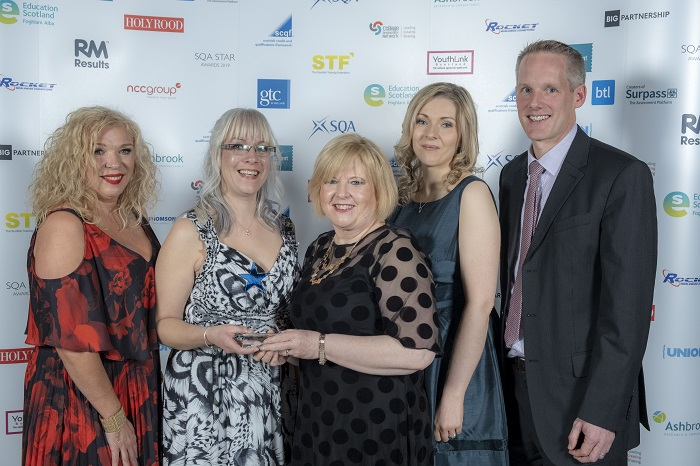 Dundee & Angus College, with award