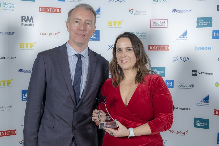 Martina Höfner, Esteem Limited, with award