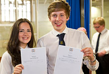 Learners receiving their SQA results