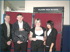 Winners from Falkirk High School